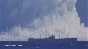 انفجار اتمی زیر دریا