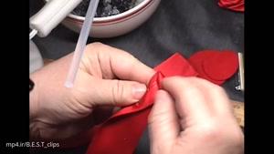 ساخت گل رز قرمز با کاغذ