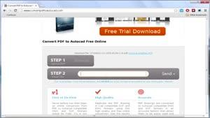 تبدیل فرمت pdf به اتوکد