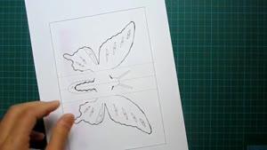 روش ساخت کارت پروانه با کاغذ