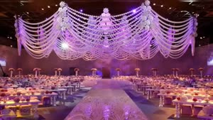 دکوراسیون داخلی تالار یا هتل برای عروسی