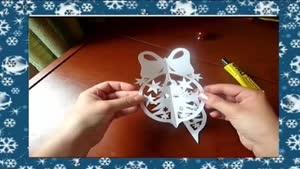 نحوه چسب زدن کاغذ ها برای دکوراسیون درخت کریسمس