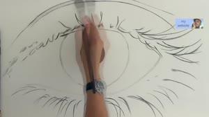 تایم لپس نقاشی چشم بسیار فوق العاده