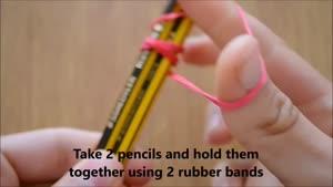 روش ساخت تیرکمان فقط با 4 مداد