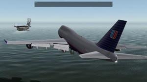 فرود هواپیمای Boeing ۷۴۷ روی ناو ارتشی