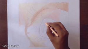 آموزش نقاشی چشم با مداد رنگی