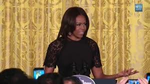 میشل اوباما و تبریک عید به ایرانیان  و توصیف هفت سین در کاخ سفید