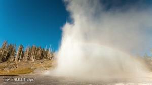 تایم لپس پارک طبیعی Yellowstone
