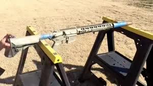 تایم لپس رنگ زدن اسلحه AR-۱۵ Camo