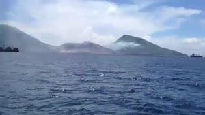 فوران انفجاری آتشفشان