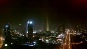 آتش بازی زیبای در برج خلیفه
