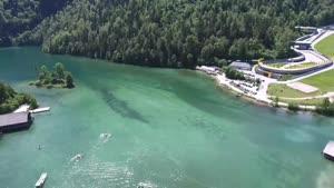 دریاچه بسیار زیبا با دی جی آی فانتوم