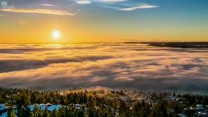 تایم لپس طبیعت بسیار زیبای نروژ
