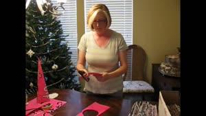 درخت کریسمس با کاغذ
