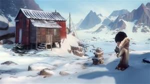 انیمیشن کوتاه - گمشدن در اعماق یخ