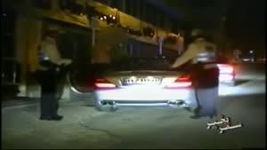 پلیس بزرگراه - بنز با منبع اسپرت