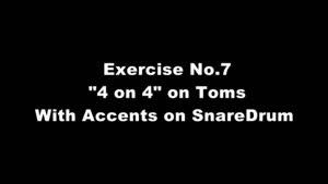اموزش ساز درام - خواندن ABCD از روی تام تام و بر روی SD