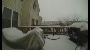 بارش برف در غرب واشنگتن در طی ۲۴ ساعت !!