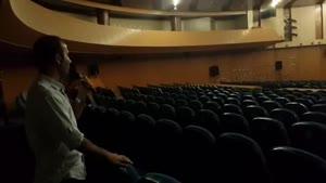پشت صحنه ی خنده دار کنسرت خنده ی کرج حسن ریوندی