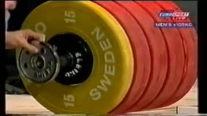 حسین رضازاده و رکورد با وزنه ۲۶۳ kg