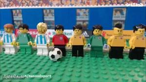 شبیه سازی بازی فوتبال آرژانتین و کلمبیا با لگو