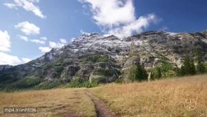 نمایی از پارک ملی یلواستون آمریکا