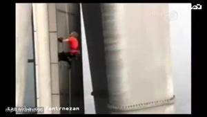برج نوردی مرد عنکبوتی در فرانسه