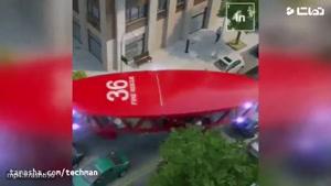 طرح تخیلی از خودروهای حمل و نقل عمومی، امداد و آتشنشانی