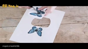 تزیین مدرن دکوراسیون با استفاده از پروانه کاغذی