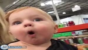 اولین باره با مامانش رفته فروشگاه