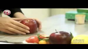آموزش حکاکی روی سیب و تزئین آن در آشپزخانه تی وی پلاس