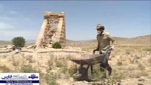 کاوش های باستان شناسی برج سنگی پاسارگاد