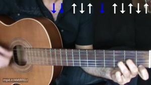 آموزش گیتار ریتم ۶/۸ ایرانی بخش چهارم