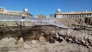 اجرای طرح پیاده راه سازی میدان اصلی همدان با کشف اشیا عتیقه و به احتمال اشیایی از دوره مادها