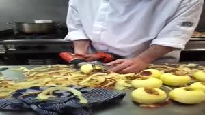 ایده جالب پوست کندن سیب