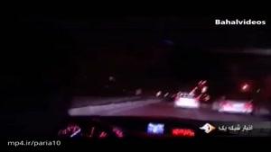 رانندگی وحشتناک و لایی کشی رانندگان متخلف با خودروهای لوکس در تهران