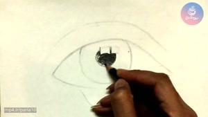 آموزش نقاشی چهره - طراحی قدم به قدم چشم