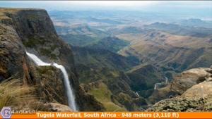 10 تا از آبشارهای بلند جهان