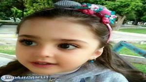 دختر بچه ی زیبای ارومیه ای با چشمان درشت و چهره ی زیبا