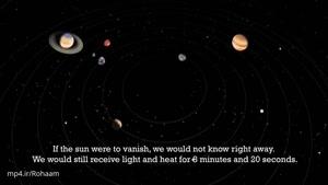 چه اتفاقی می افتد اگر خورشید ناگهان ناپدید شود؟