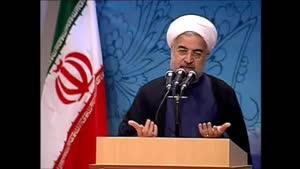 سخنرانی دکتر روحانی در بین فرماندهان سپاه