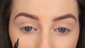 روشی جدید و راحت برای کشیدن خط چشم