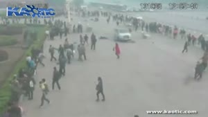زیر گرفتن عابر در چین