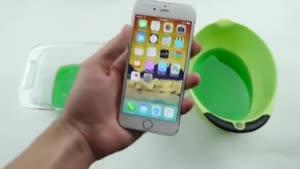 iPhone ۶ در ژل چسبنده !!!