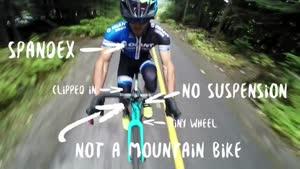 دوچرخه سواری در کوهستان با چرخ تاب دار