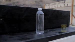 شلیک به بطری آب در حرکت آهسته