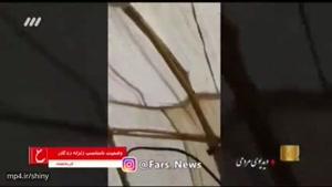 صحبت های رضا رشیدپور نسبت به آبگرفتگی چادرهای زلزله زدگان