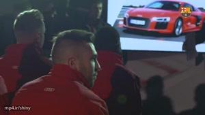 تحویل خودرو Audi به بازیکنان بارسلونا