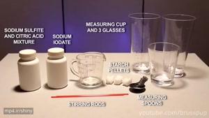 آزمایش جالب سیاه شدن آب!