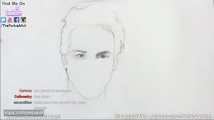 طراحی چهره کیانو ریوز با مداد